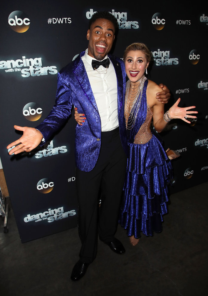 <p>RASHAD JENNINGS AND EMMA SLATER</p>