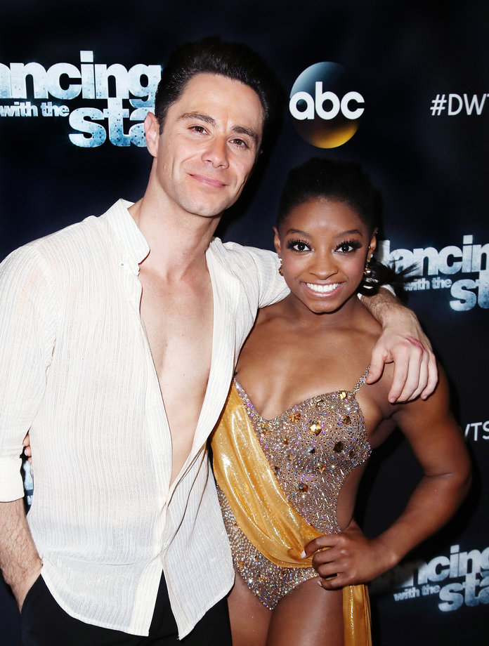 5/16 DTWS Looks Simone Biles and Sasha Farber LEAD