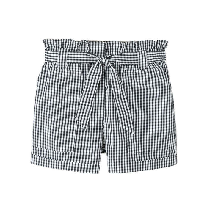 <p>Mango Gingham check shorts</p>