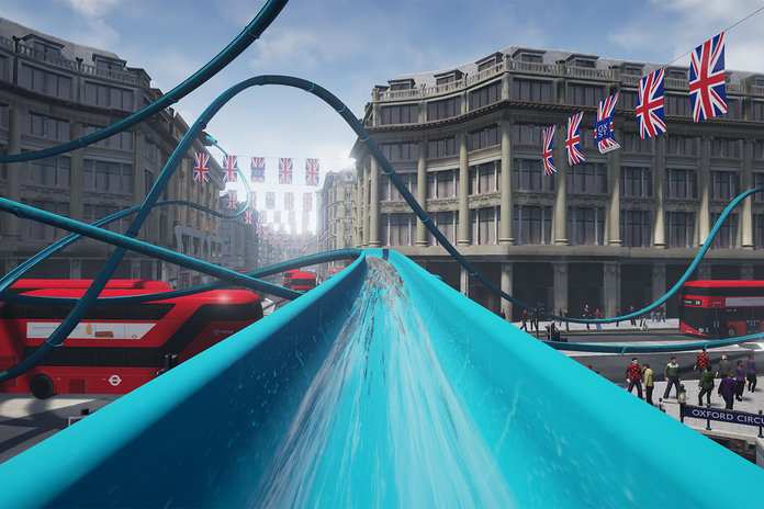 Topshop Has Installed A Water Slide You Can Ride In Store