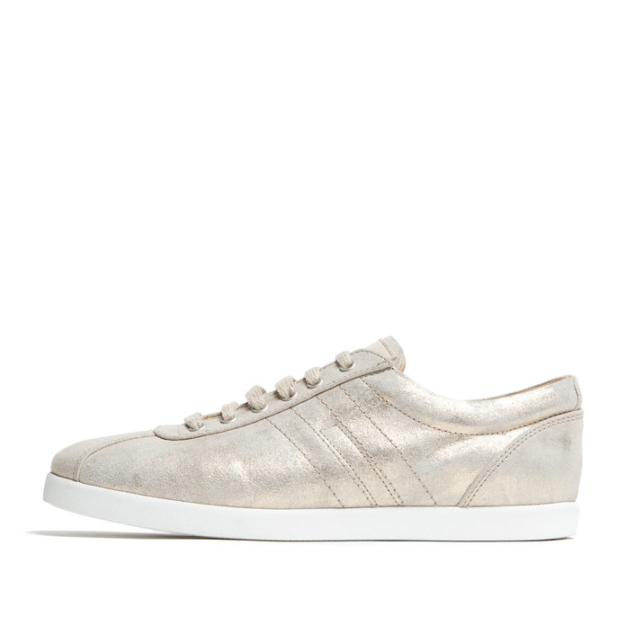 GOLD LEATHER LACE-UP