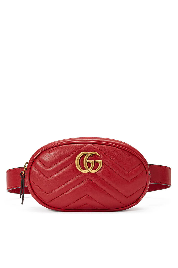 Gucci GG Marmont Metals Leather Belt Bag