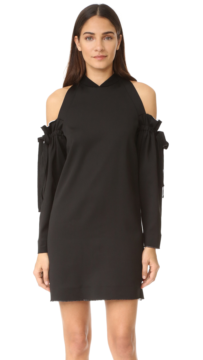 Cold Shoulder Dress with Raw Edges