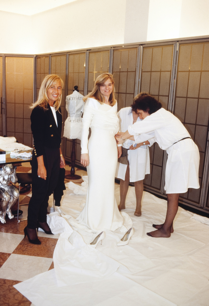 Gianni Versace Made Me a Couture Wedding Gown | InStyle.com