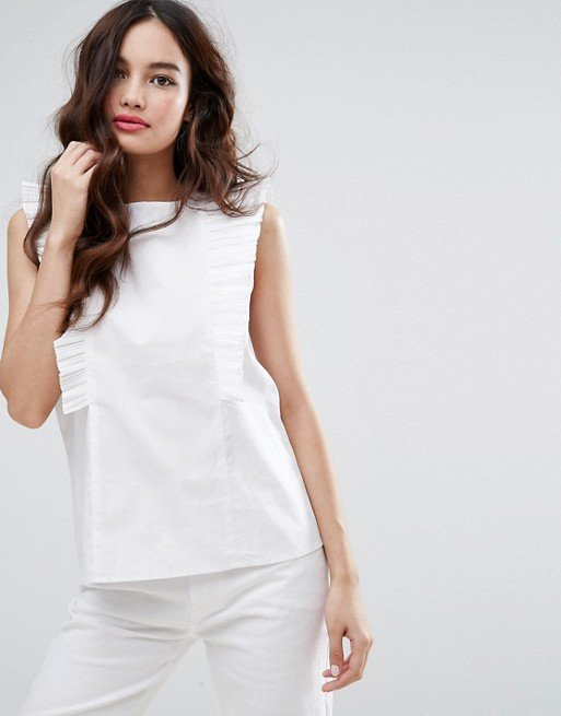Fashion Union High Neck Blouse With Frills