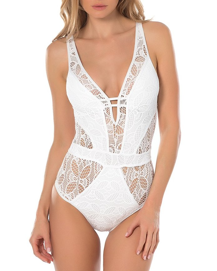 BECCA by Rebecca Virtue Color Play Lace One Piece Swimsuit
