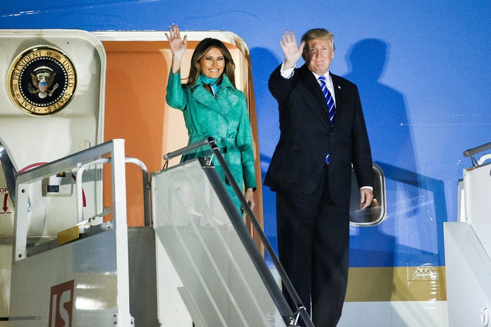The Trump Family Touched Down in Poland