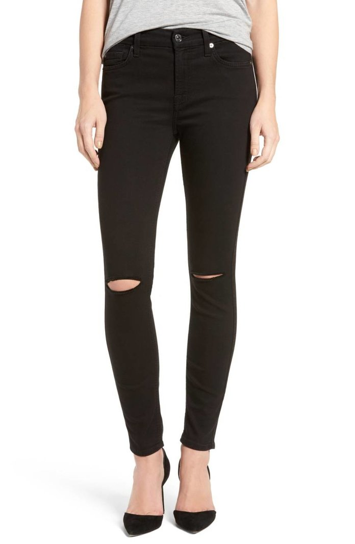 7 for All Mankind 'b(air)' Ankle Skinny Jeans