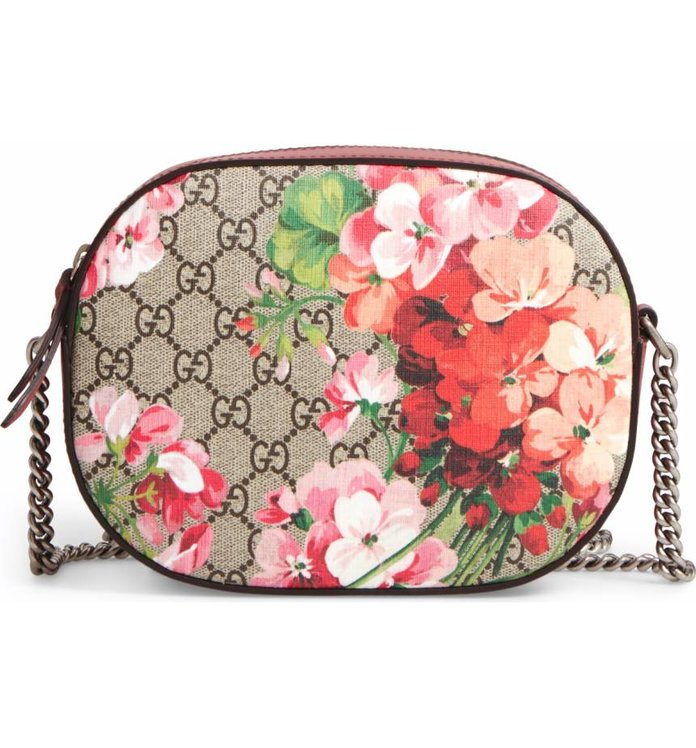 Gucci GG Blooms Supreme Canvas Shoulder Bag