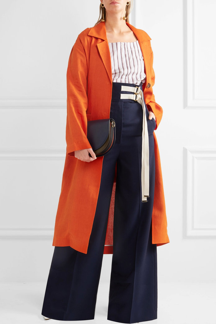 Isa Arfen Safari linen coat