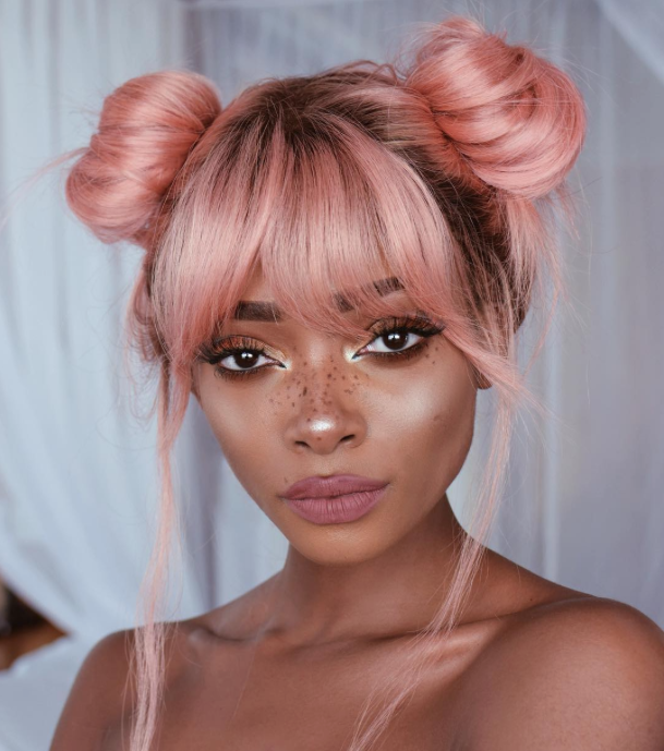 Proof Rose Gold Hair Isn't Just For Blondes (Or Mermaids)