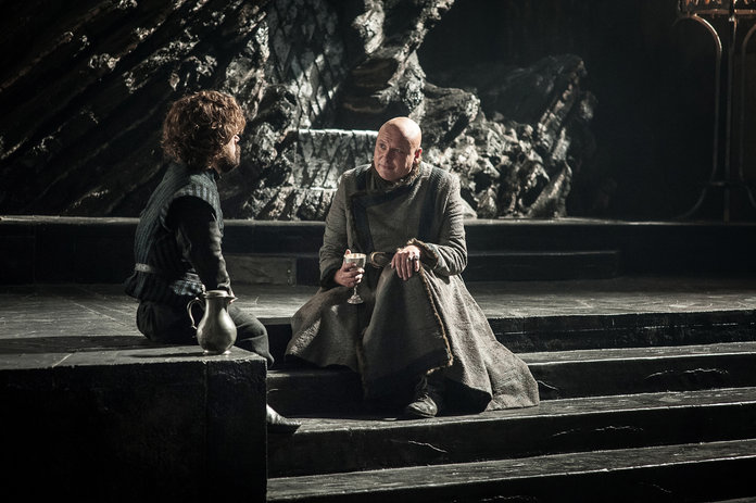 <p>Tyrion Lannister and Lord Varys</p>