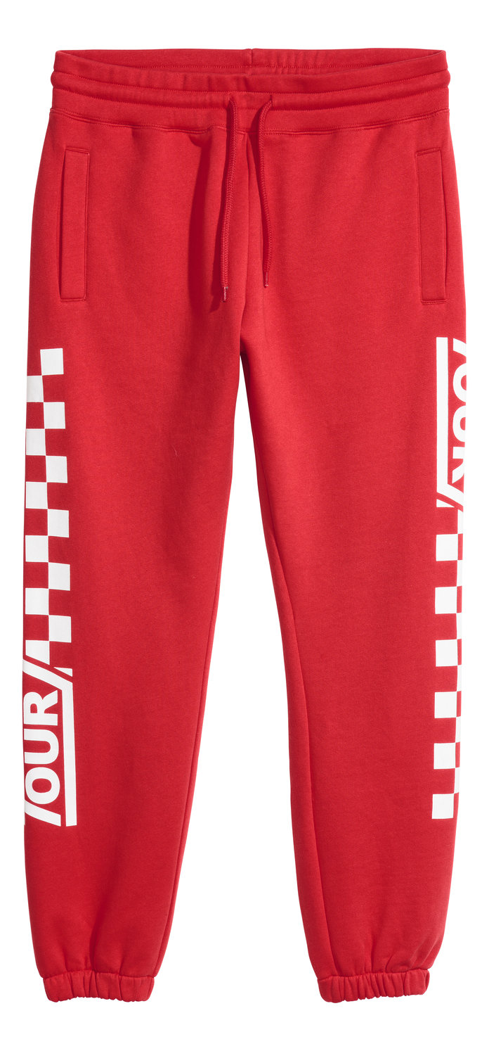 <p>Red Jogger</p>