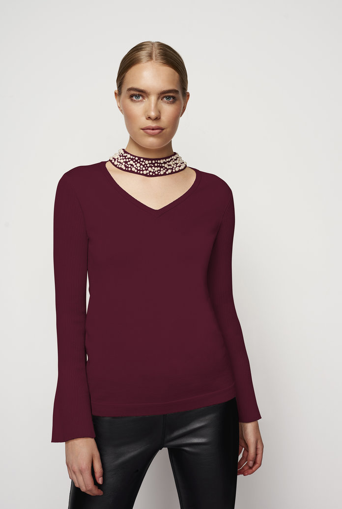 The Embellished Choker Top