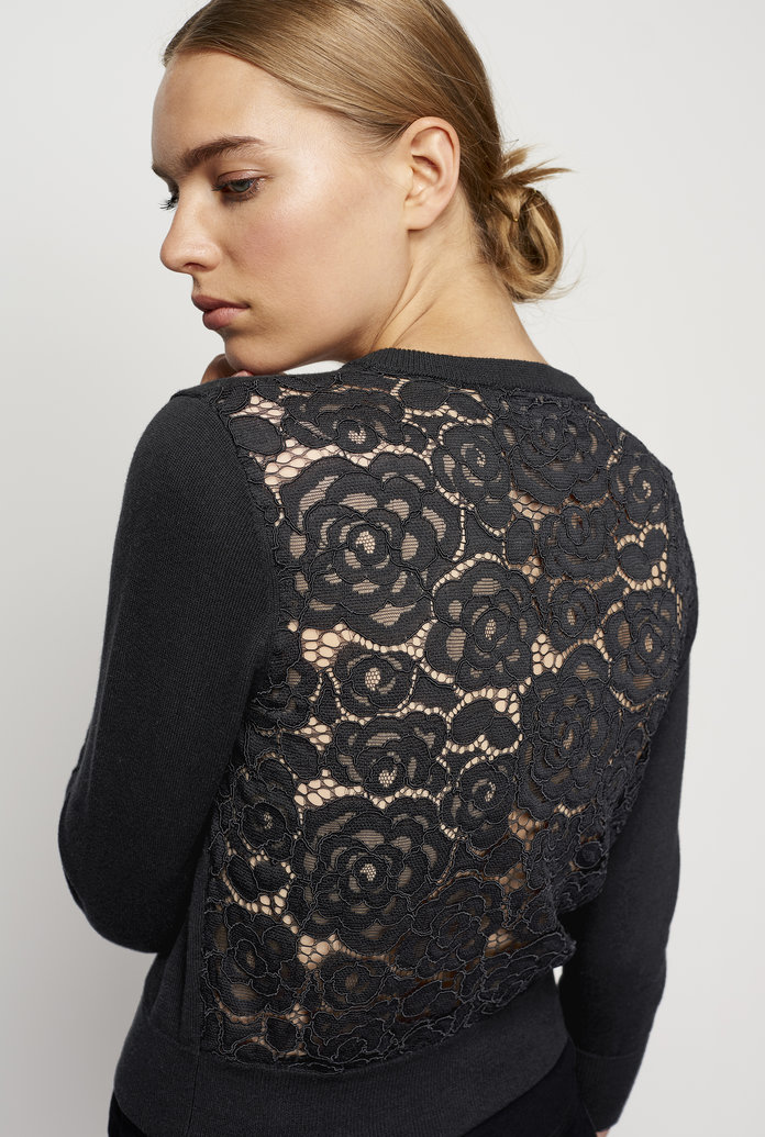 <p>The Lace Back Cardigan</p>