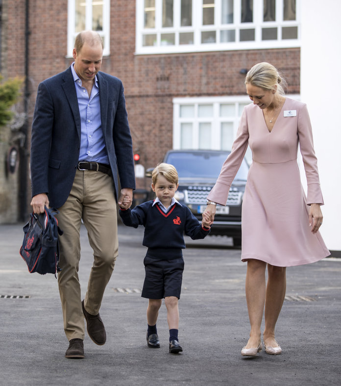 Watch Prince George Arrive For His First Day Of School – And Try Not To Cry. We Dare You.