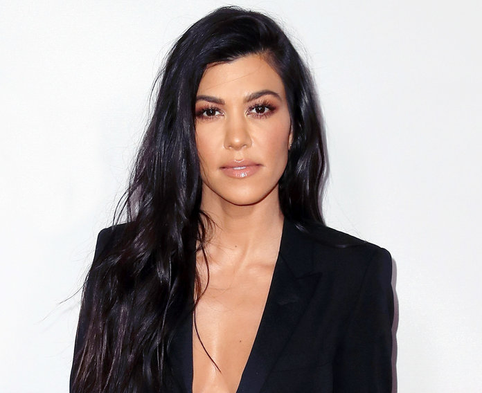 Kourtney Kardashian and Her White and Navy Bikini Bid Summer Adieu