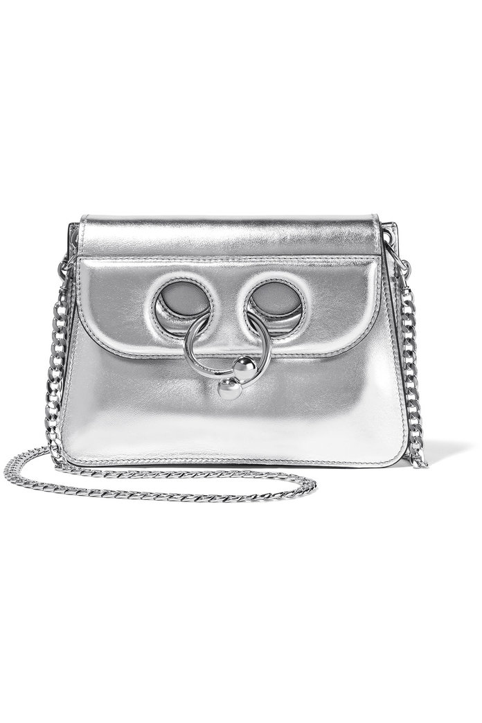 J.W.Anderson Pierce mini metallic leather shoulder bag