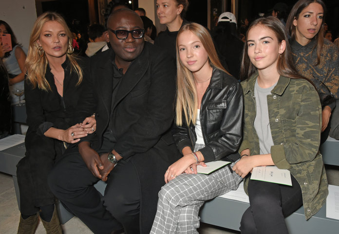 Kate Moss Returns To Topshop With Her 14 Year-Old Daughter On The LFW FROW