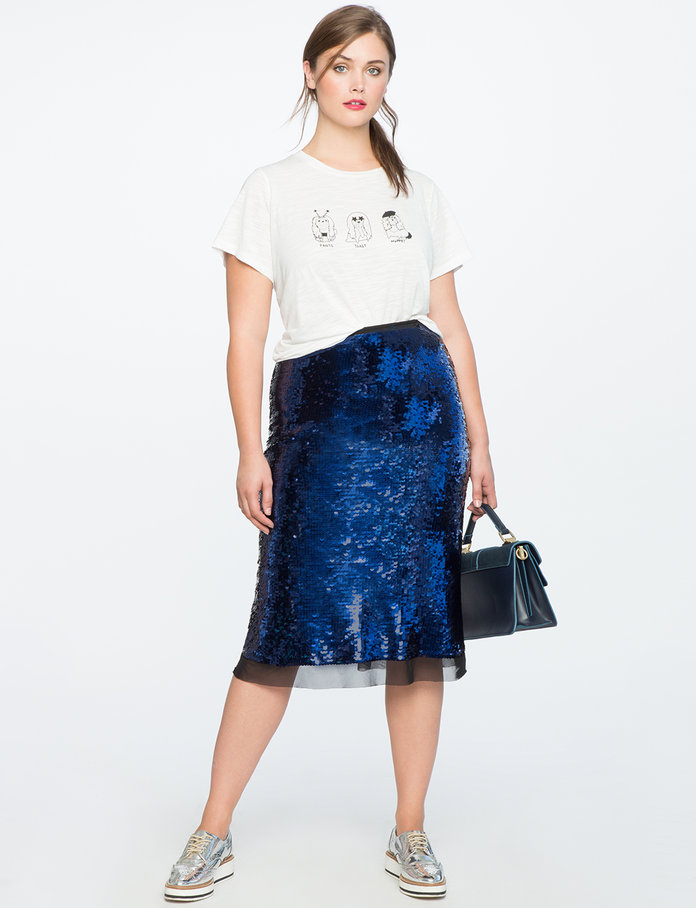 <p>The Sequined Skirt</p>
