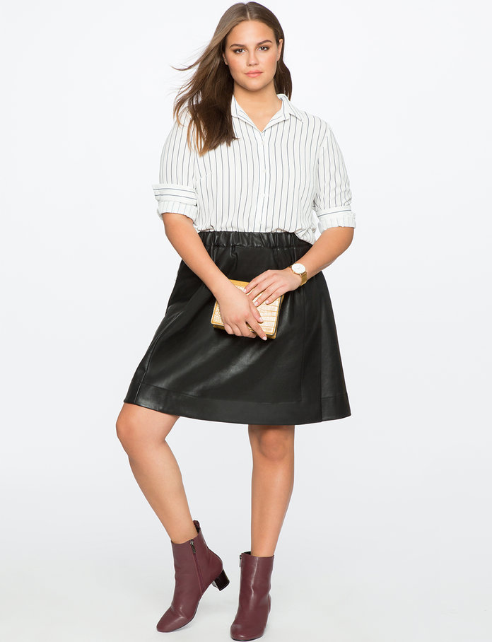 <p>The Faux Leather Skirt</p>