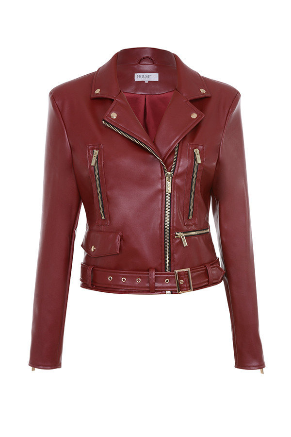 <p>The Faux Leather Jacket</p>