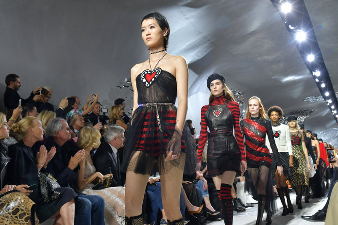 Fishnet Boots + Breton Tops: Welcome To A Very Modern Dior