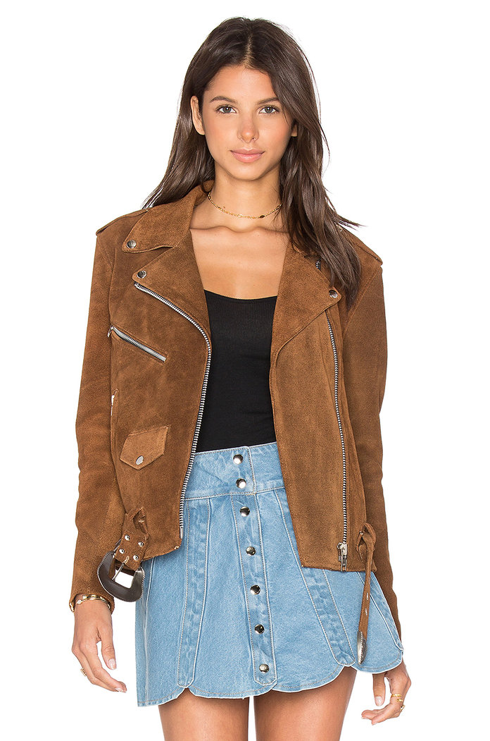Understated Leather X REVOLVE WESTERN SUEDE MOTO JACKET