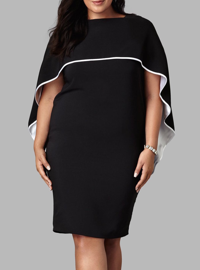 Yona New York's Drape Cape Dress