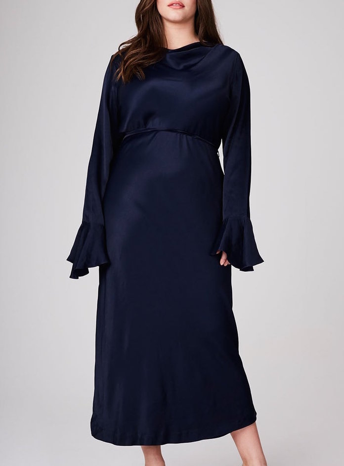 <p>Haley Hasslehoff Collection for Elvi's Navy Midi Dress</p>