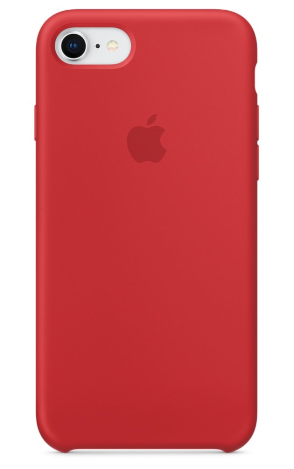 <p>Silicone (Product) Red Case by Apple</p>