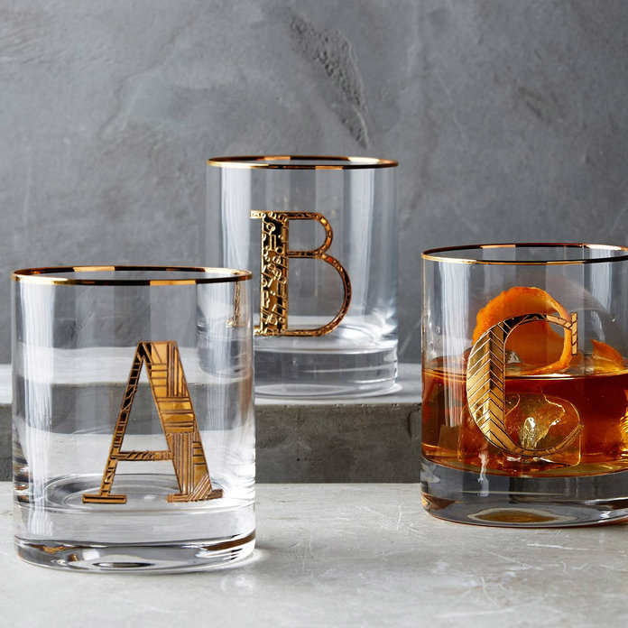 <p>Anthropologie Monogrames Glasses</p>