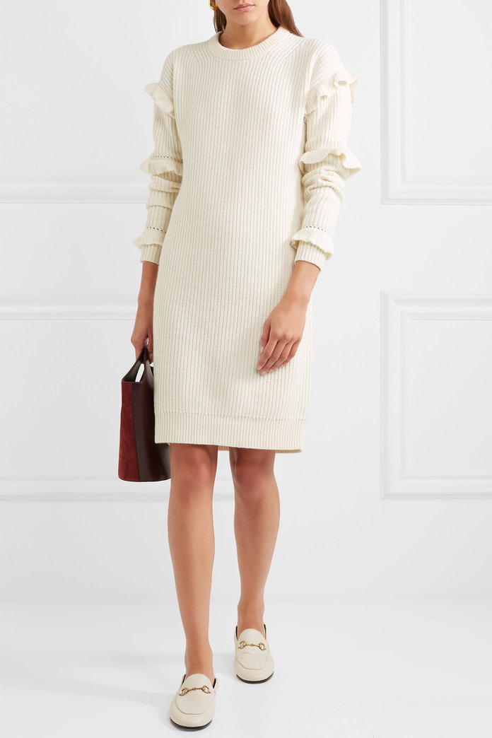 Michael Michael Kors Ruffled Knit Dress