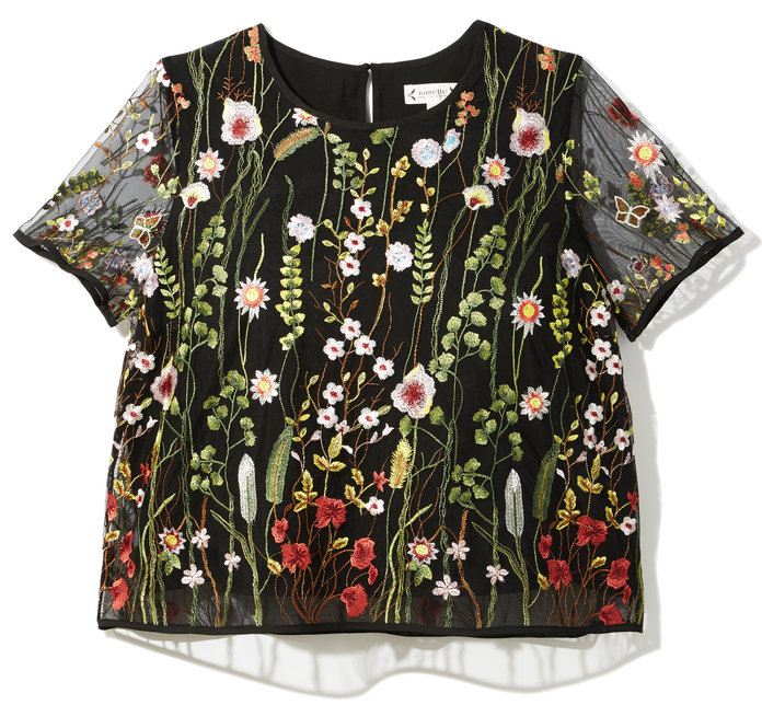 <p>The Floral Embroidered Top</p>