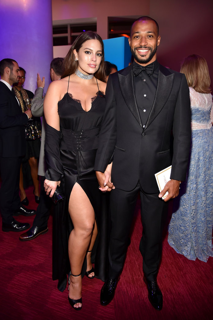 NEW YORK, NY - APRIL 25: Ashley Graham and Justin Ervin attend the 2017 TIME 100 Gala at Jazz at Lincoln Center on April 25, 2017 in New York City.  (Photo by Patrick McMullan/Patrick McMullan via Getty Images)