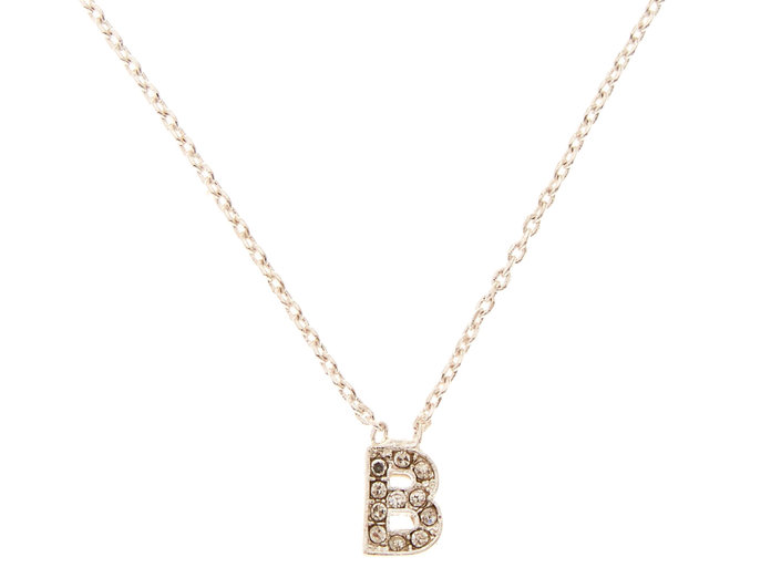 Silver-Tone Initial Pendant Necklace