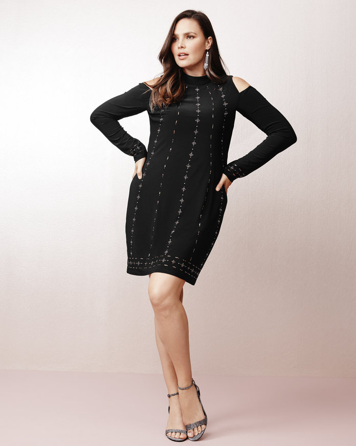 <p>The Cold Shoulder LBD</p>