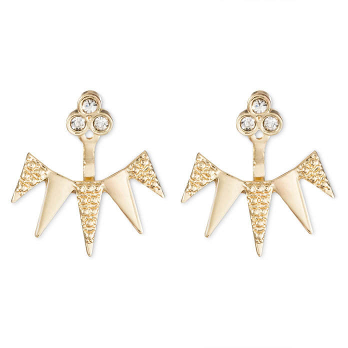 SUGARFIX by BaubleBar Spike Ear Jacket Earrings