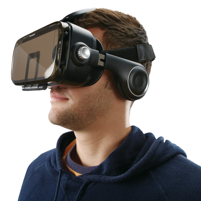 VR Headset with Built-In Headphones