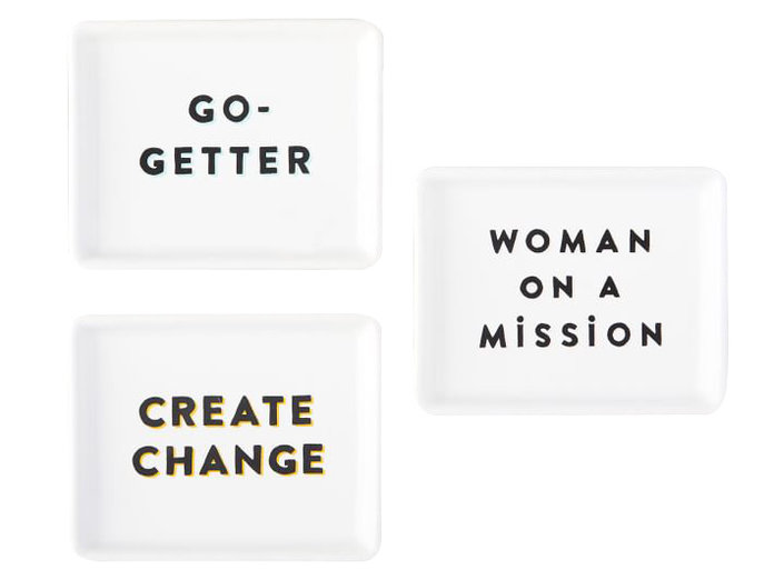 <p>Spirited Slogans FEED Canape Plates</p>