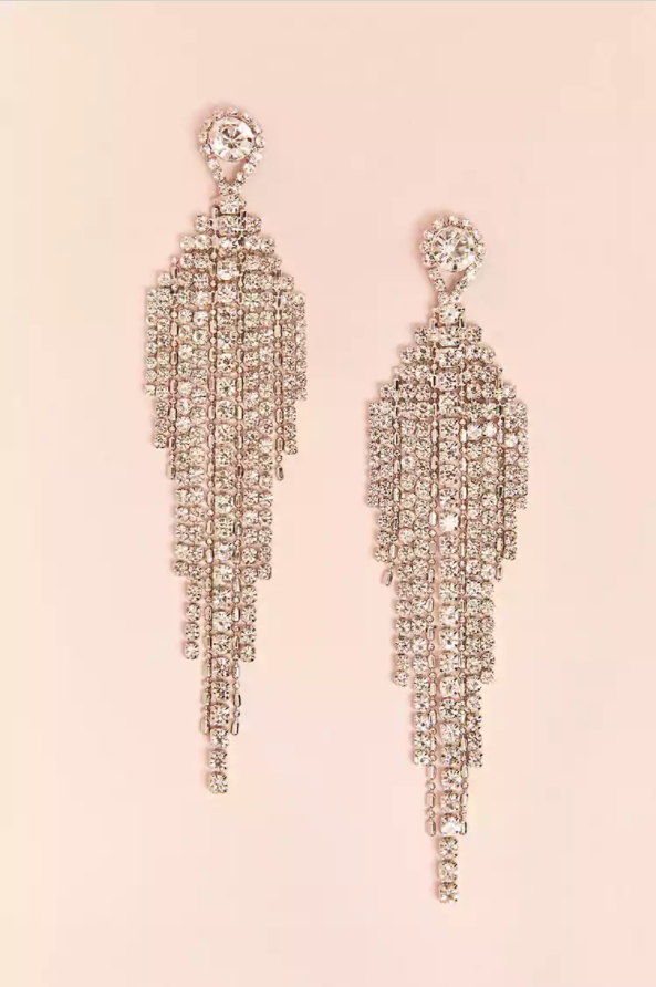 Forever 21 Rhinestone Chandelier Earrings