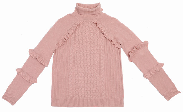 The Ruffle Embellished Turtleneck