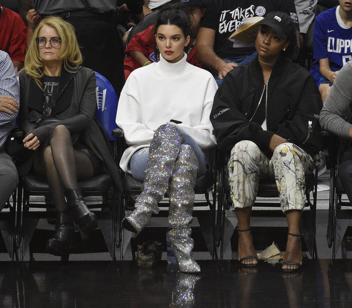<em>Those </em>Glitter Saint Laurent Boots Kendall Wore? Now There's a High Street Version