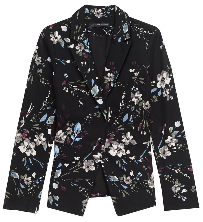 <p>A floral blazer to spice up your suit by White House Black Market</p>