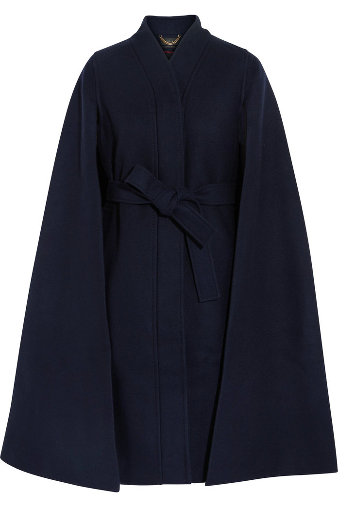 A wool cape coat for refreshing silhouette by J.Crew