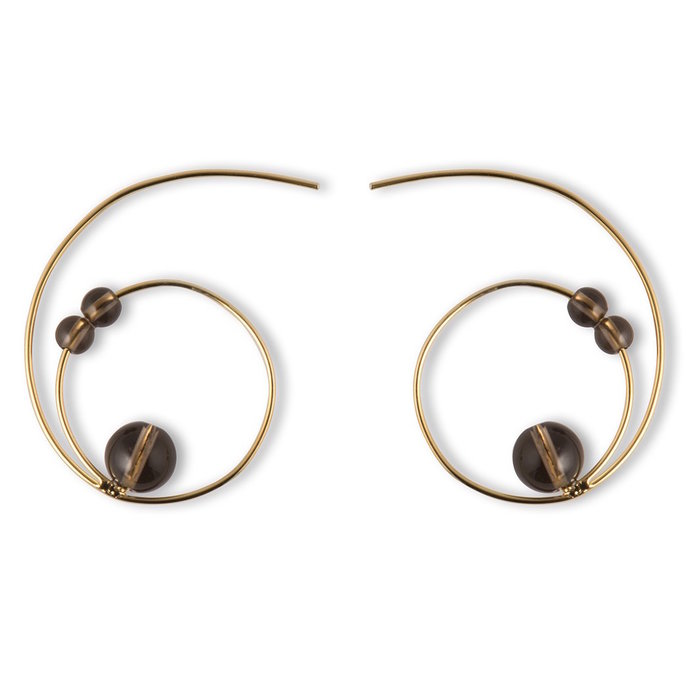 <p>statement hoops to pair with turtlenecks by The 9th Muse</p>
