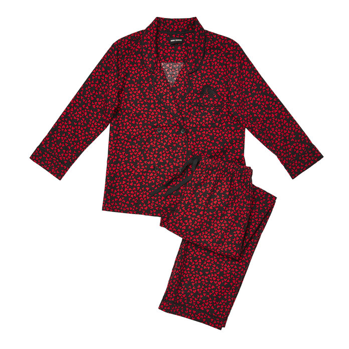 <p>Flannel pajamas by Room ServiceFOR NIGHTS COZYING UP BY THE FIRE</p>