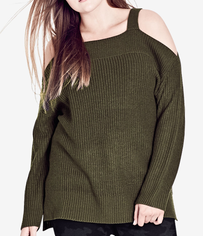 The Cold Shoulder Sweater by City Chic