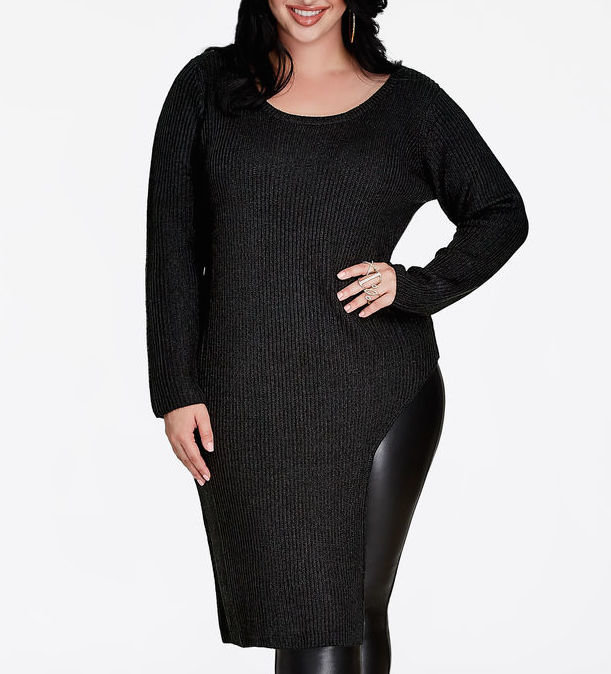 The Front Slit Sweater by Ashley Stewart