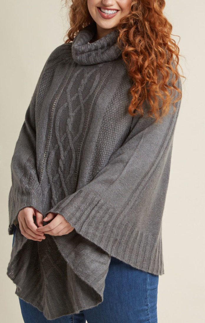 <p>The Cable Knit Poncho</p>